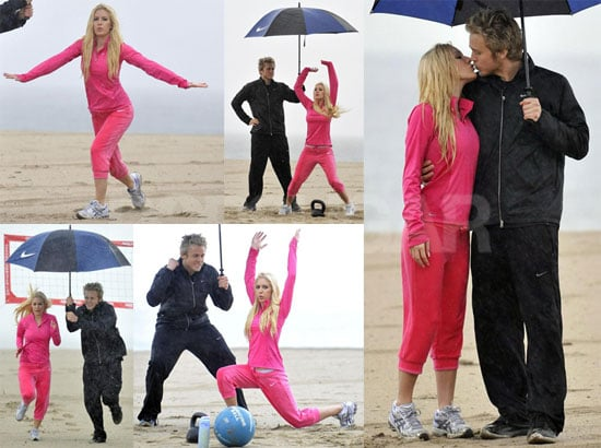 Heidi Works Out While Spencer Keeps Her Dry