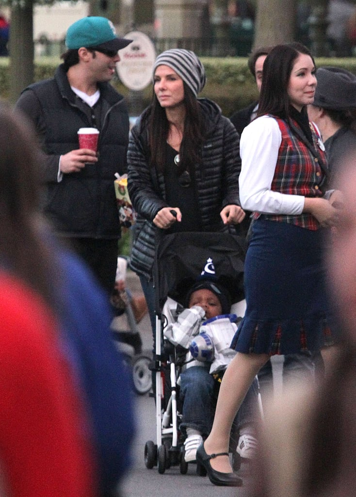 Sandra Bullock took little Louis to Disneyland.