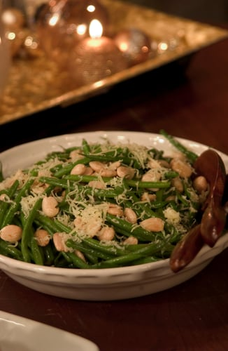 Colin's Haricots Verts With Toasted Almonds and Parmesan Cheese