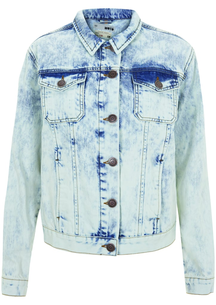 The denim jacket is an essential to the festivalgoer's wardrobe, and you can snag it from the Topshop Festival Collection for Summer 2013, inspired by Kate Bosworth.