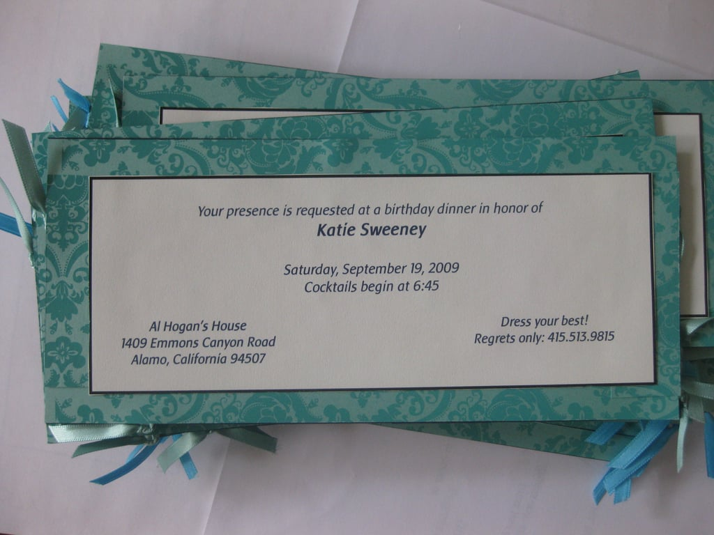 My Birthday Party Invitation