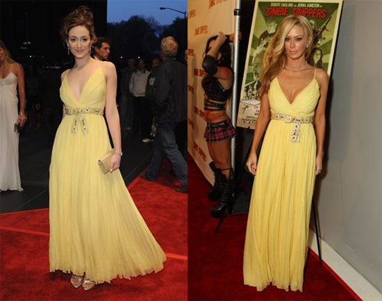 Who Wore it Better? Jenna Jameson and Emmy Rossum in Dior Pleated Gown