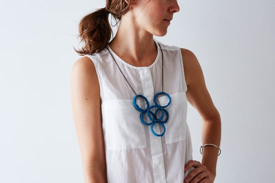 Make This Geometric Necklace from Something You Throw Away Every Week