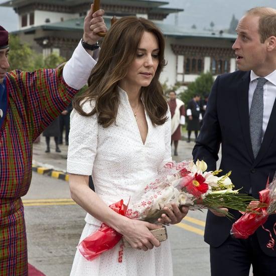 The Duchess of Cambridge Alexander McQueen Suit Bhutan 2016
