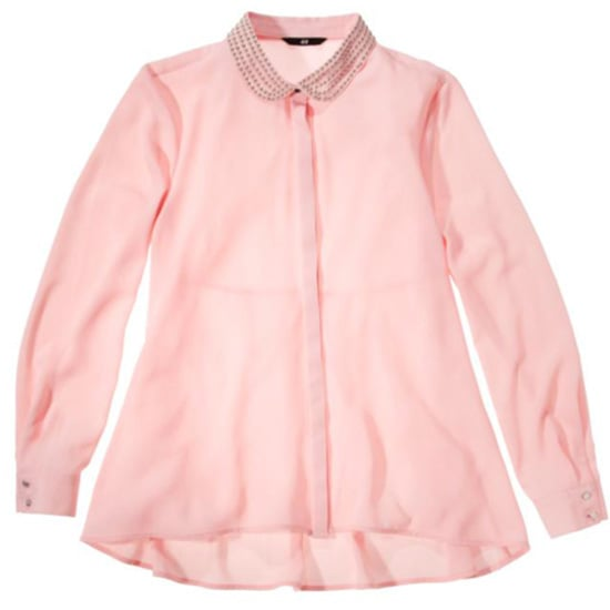 This pretty pink shirt features a cool embellished collar and is part of H&M's selection of Perfectly Pink products. The best part? Twenty-five percent of the purchase price of any perfectly pink items will go directly to the American Cancer Society. H&M perfectly pink products are available at H&M stores.