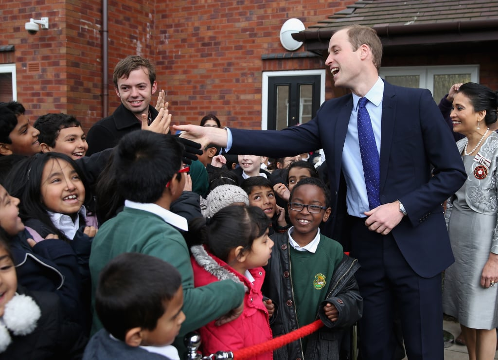 Prince William joked around with kids while in Birmingham, England.
