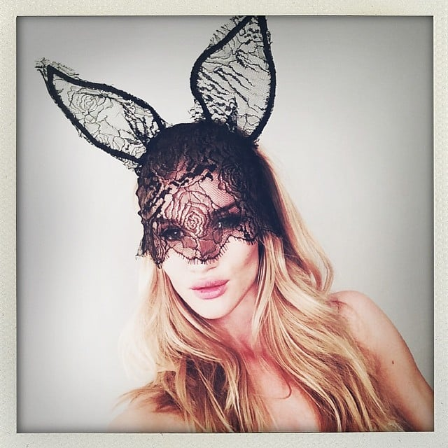 Rosie Huntington-Whiteley channeled her inner bunny. Source: Instagram user ropsiehw
