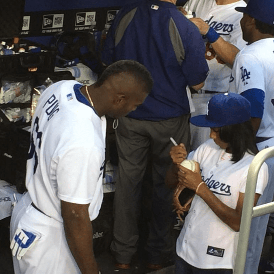 Mo'ne Davis Throws First Pitch at LA Dodgers Game
