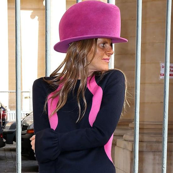 Anna Dello Russo Hot-Pink Hat