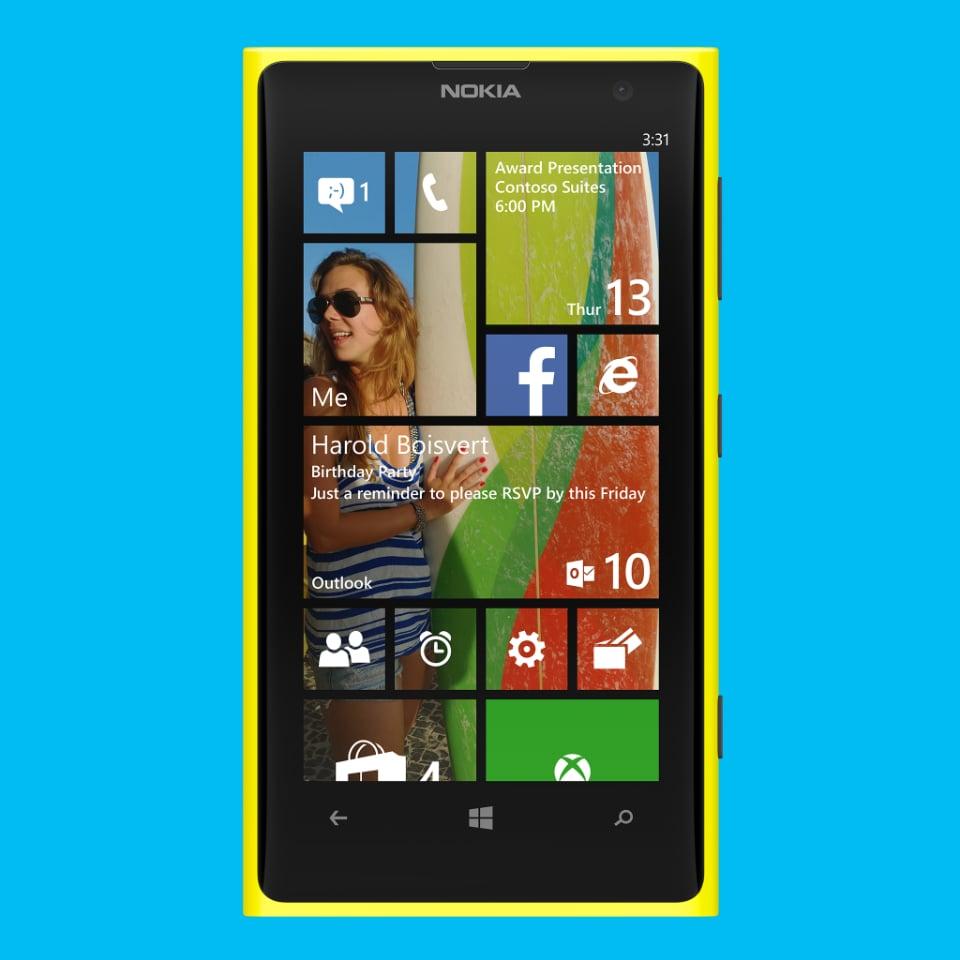 Windows Phone 8.1 gets a new start screen.