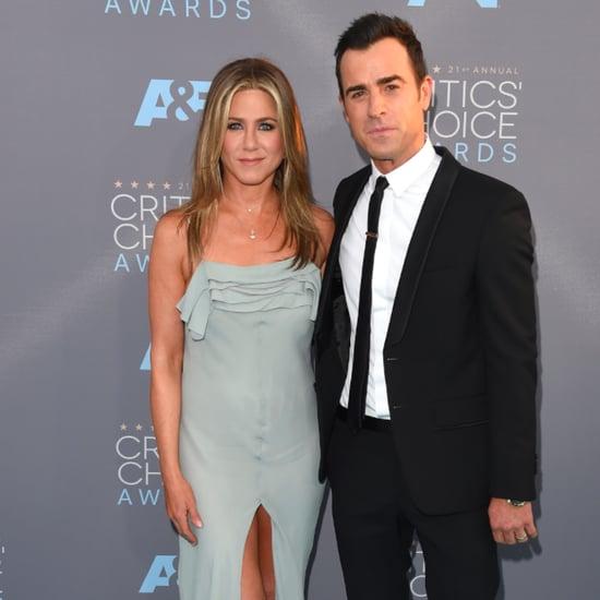 Jennifer Aniston Justin Theroux Critics' Choice Awards 2016