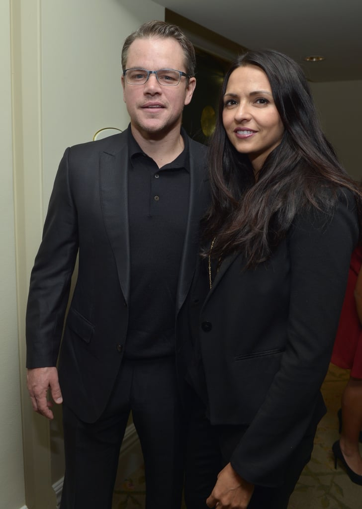 Matt Damon and his wife, Luciana, attended the Children's Defense Fund's annual Beat the Odds Awards with other stars in LA on Thursday night.