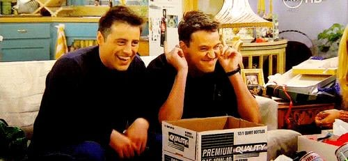 When Joey and Chandler Do the Double Point