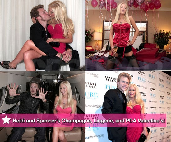 Heidi and Spencer's Champagne, Lingerie, and PDA Valentine's!