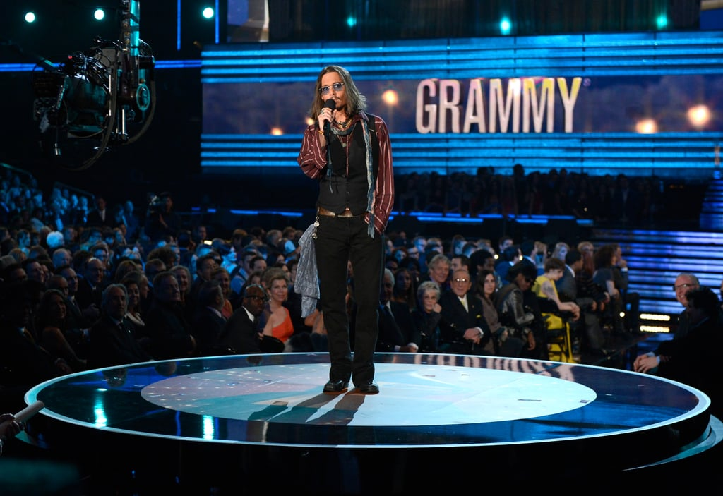 Johnny Depp took the stage at the Grammys.