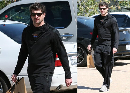 Photos of Patrick Dempsey Wearing All Black and Smiling While Running Errands in Los Angeles