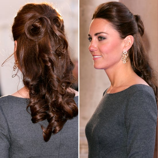 Kate Middleton's Curly Half Up Half Down Hair Instructions