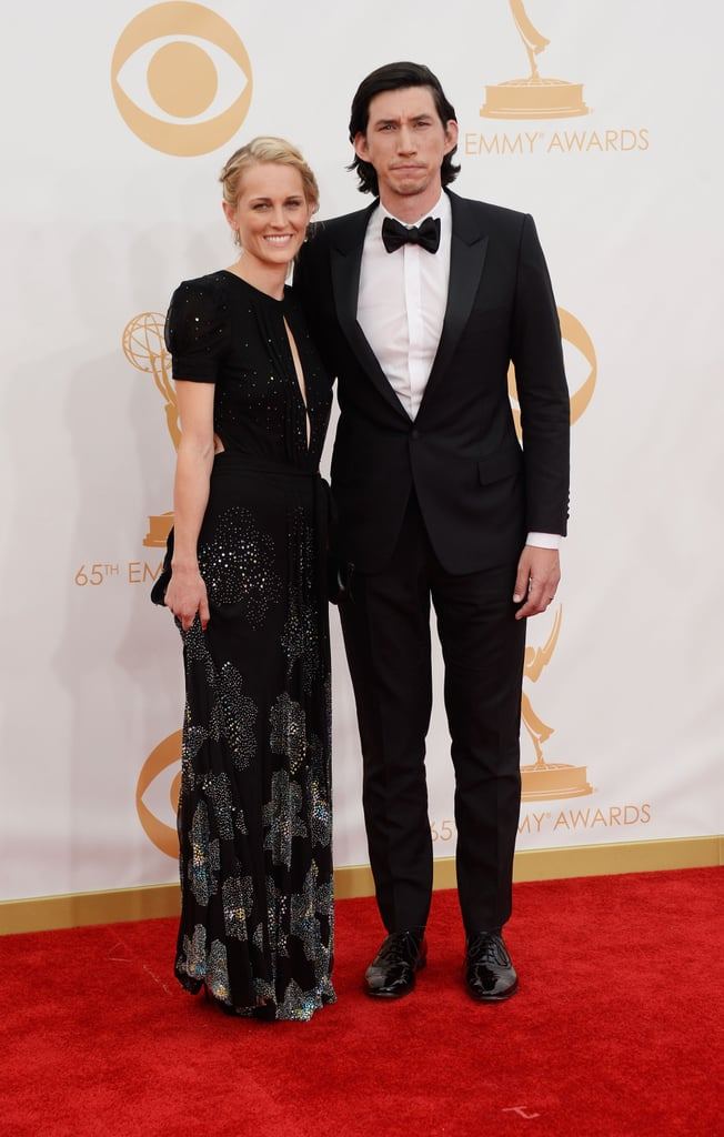 Girls star Adam Driver and Joanne Tucker hit the Emmys red carpet together.