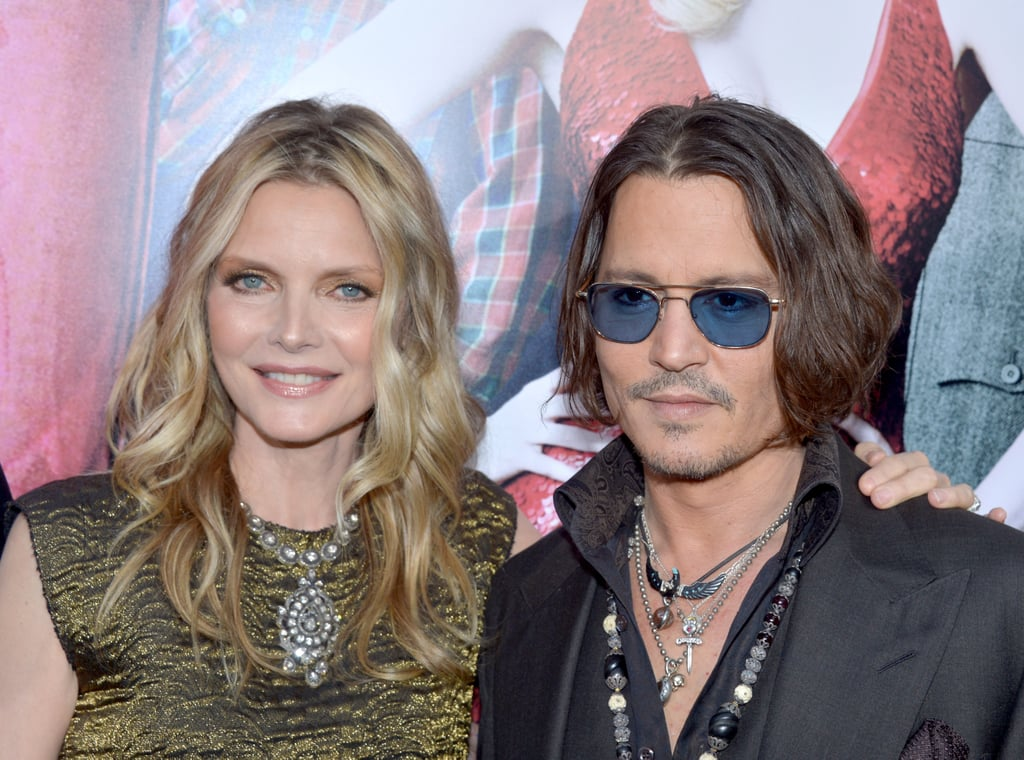 Costars Michelle Pfeiffer and Johnny Depp got together at the Dark Shadows premiere in LA.