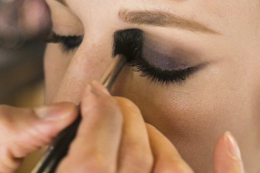 """Jennings's trick to blending out a smoky eye is to use a taupe shadow in the crease. """"Take a neutral shadow and blend it so now the purple blends into this taupe color,"""" he explains. Then use the brand's Eye Shadow in Omega ($16), which is his go-to neutral shade. This step helps transition the dark shadow to the skin under the brows."""