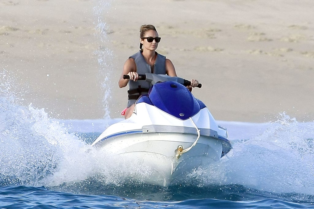 Stacy Keibler on a Jet Ski in Mexico.