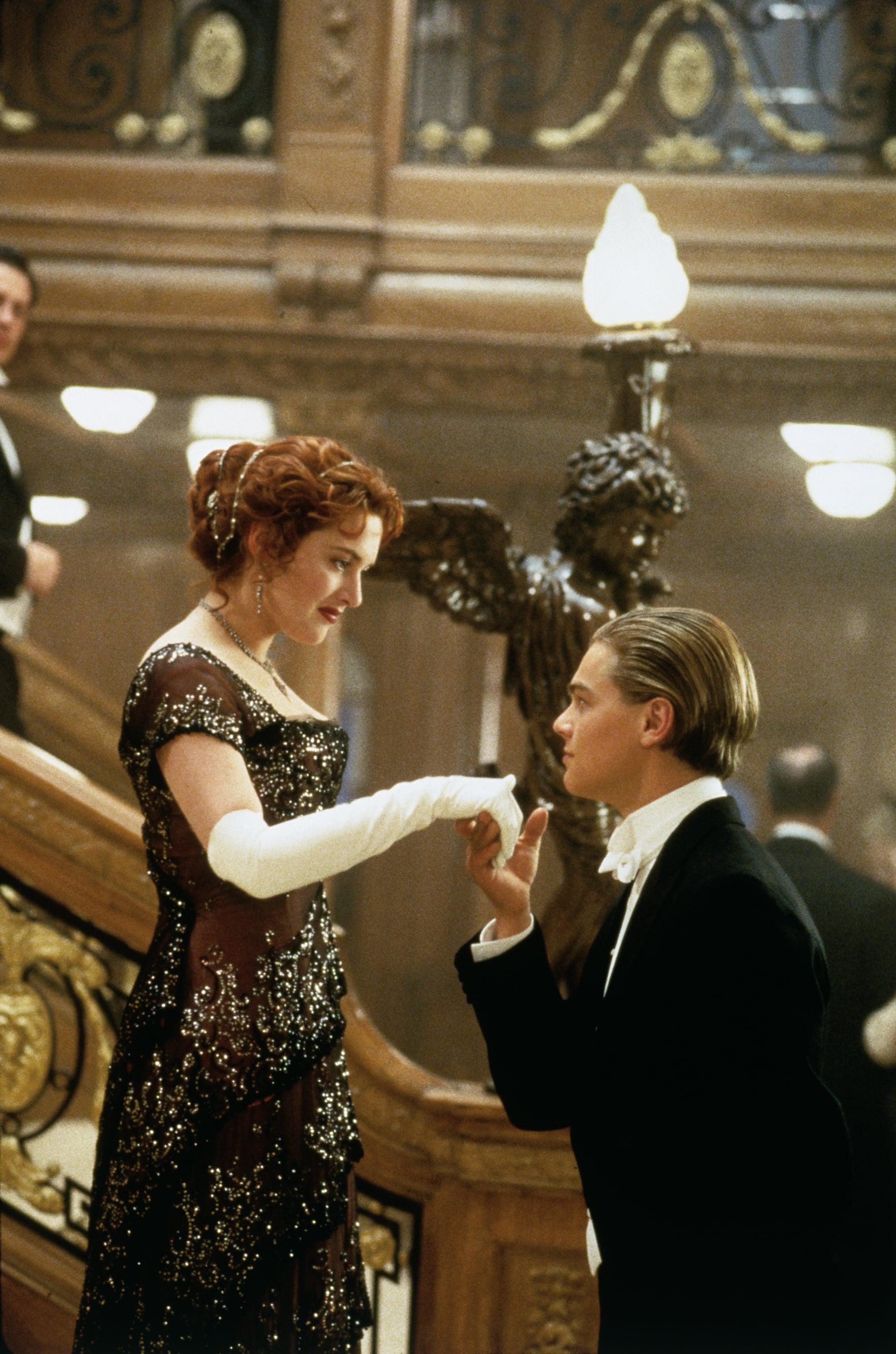 Kate Winslet and Leonardo DiCaprio in Titanic.