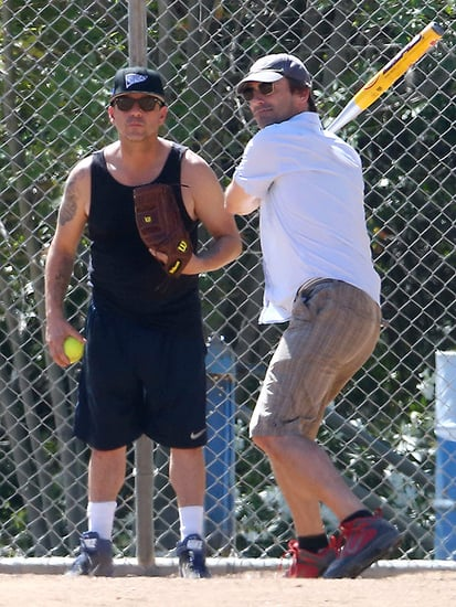 Jon at Bat! Hamm Plays a Pickup Game of Baseball in Los Angeles Following His Big Emmy Win