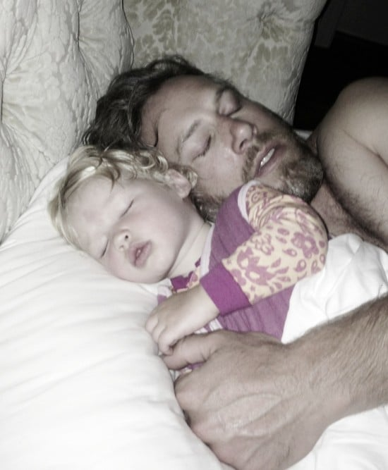 """Jessica Simpson snapped a picture of her """"loves"""" while they napped.  Source: Twitter user jessicasimpson"""