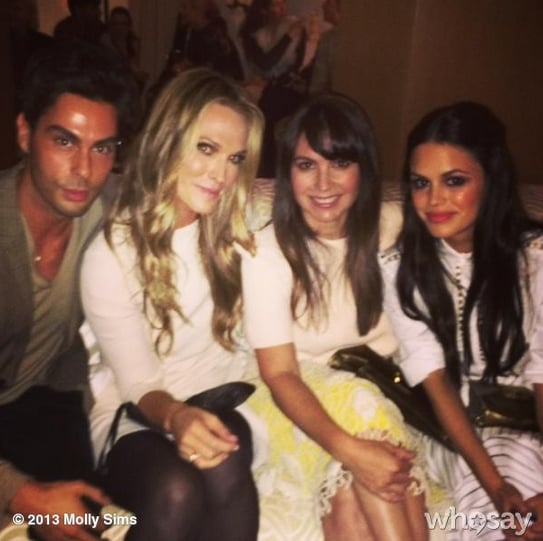 Molly Sims buddied up with pals including Rachel Bilson at the Chloé party in LA. Source: Instagram user mollybsims