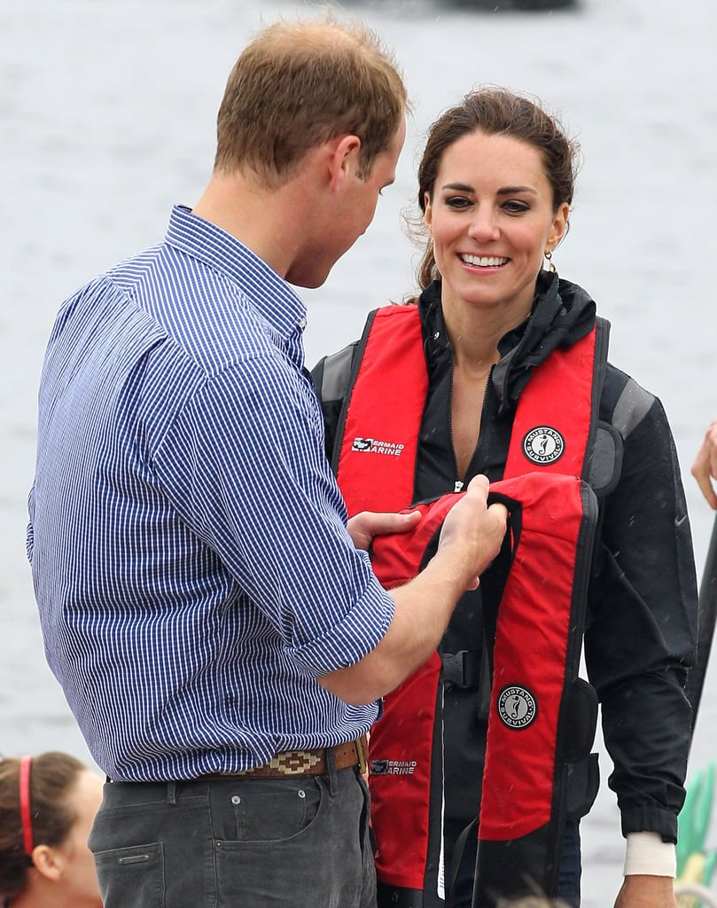Prince William helped Kate Middleton get ready for the race.