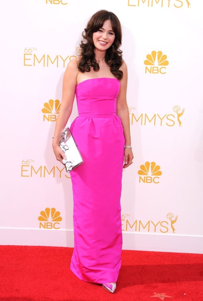 Zooey deschanel dress style pictures popsugar fashion for Zooey deschanel wedding dress