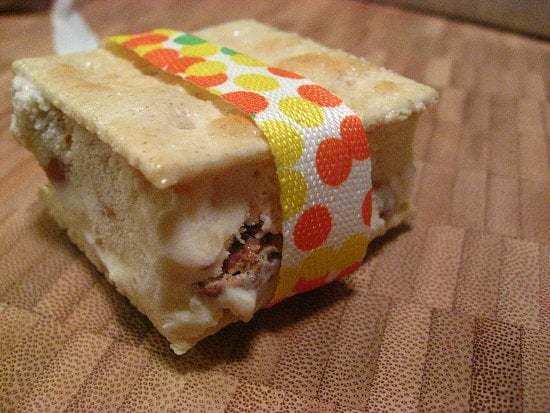 Vanilla Caramel Saltine Ice Cream Sandwiches