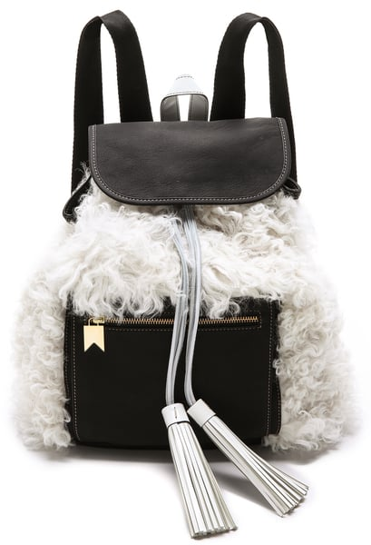 Meredith Wendell Shearling Backstroke Backpack ($995)