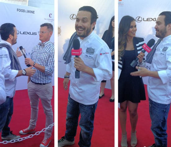 Cookbook author and Top Chef alum Fabio Viviani had fun on the red carpet while being interviewed by POPSUGAR Food's Brandi Molloy.  Source: Instagram user fabioviviani