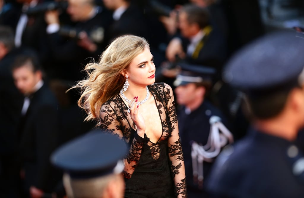 Cara in action! That hair...