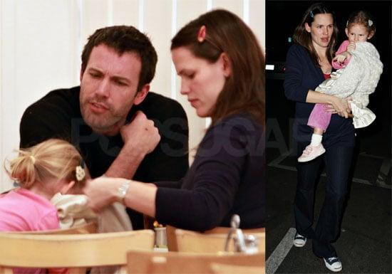 Photos of Postbaby Jennifer Garner, Violet Affleck, Ben Affleck at Dinner in LA