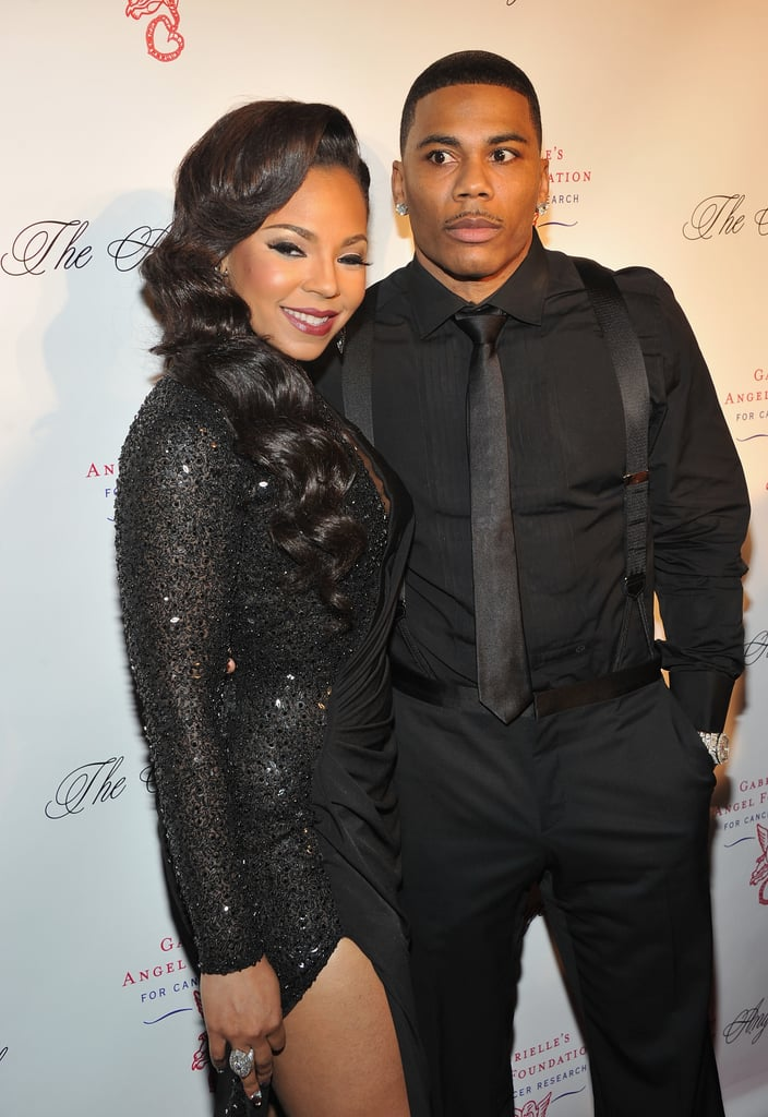 Ashanti and Nelly both wore black to the Angel Ball in new York City.