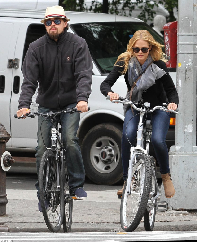 Leonardo DiCaprio and girlfriend Erin Heatherton biked around NYC together.