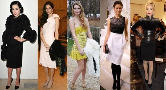 Celebrities at Paris Couture Week