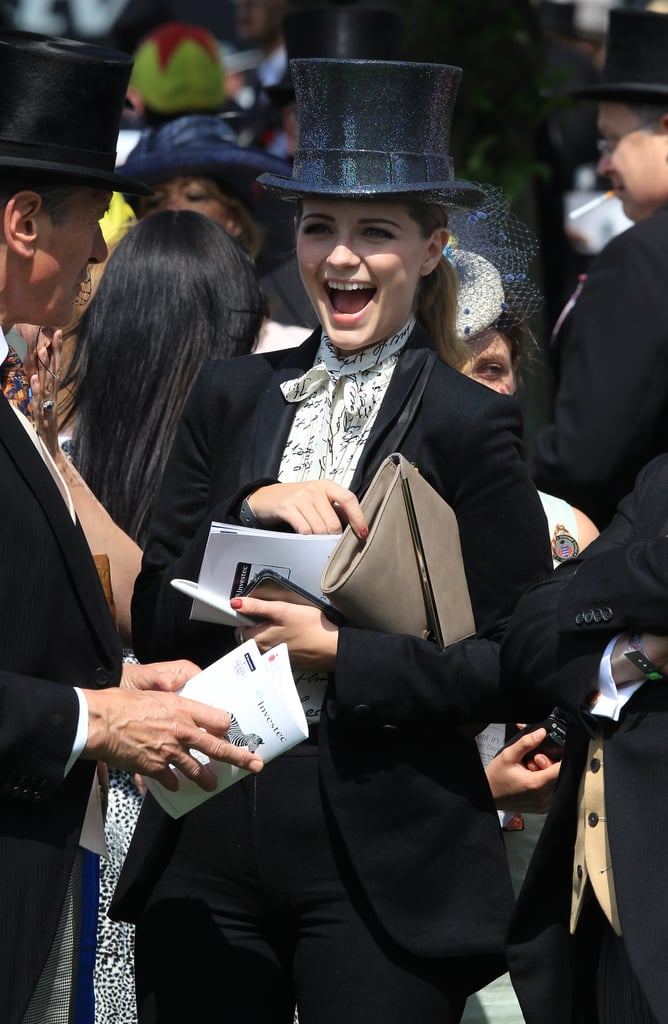 Mischa Barton laughed at the derby.