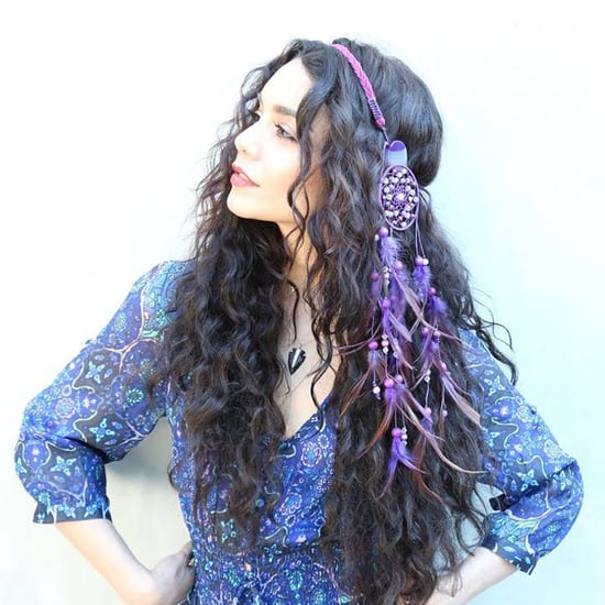 Vanessa Hudgens Wears Dreamcatcher as Hair Accessory
