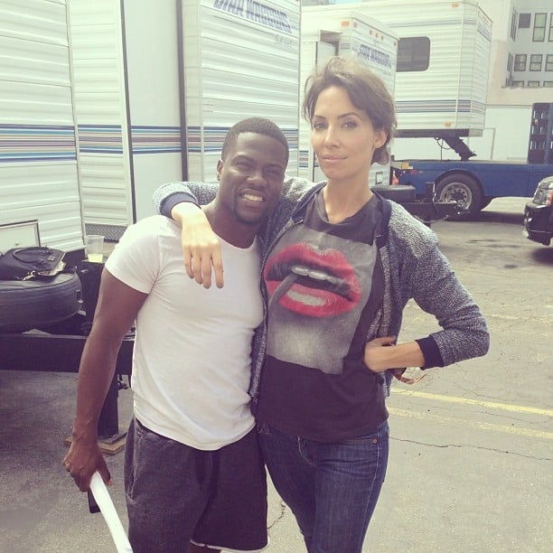 """Whitney Cummings hit the set with her """"future baby daddy,"""" Kevin Hart. Source: Instagram user whitneyacummings"""