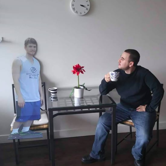 Guys Take Cardboard Cutout of Friend on Vacation