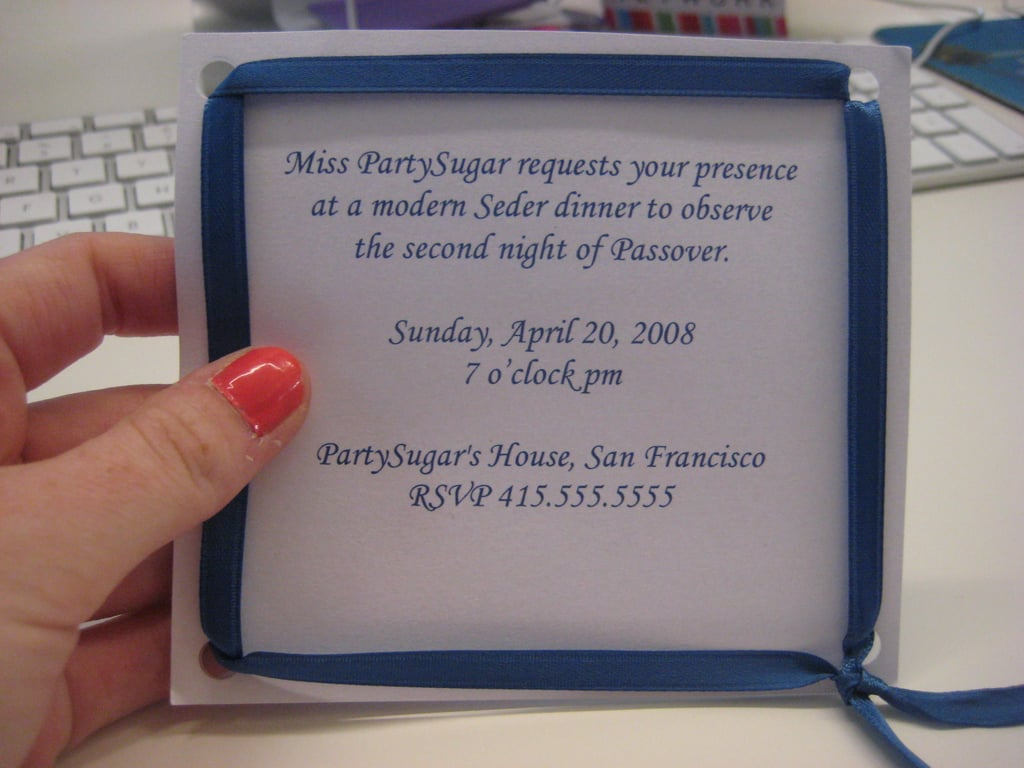 Passover Invite: Step by Step