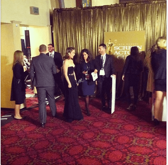Tina Fey went backstage. Source: Instagram user marcmalkin