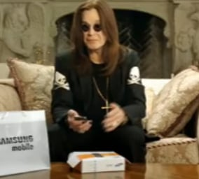 Ozzy Osbourne Is the New Spokesperson For the Samsung Jack Cell Phone