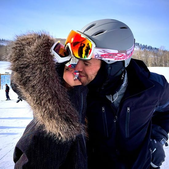 Nina Dobrev and Austin Stowell Kiss in the Snow Picture