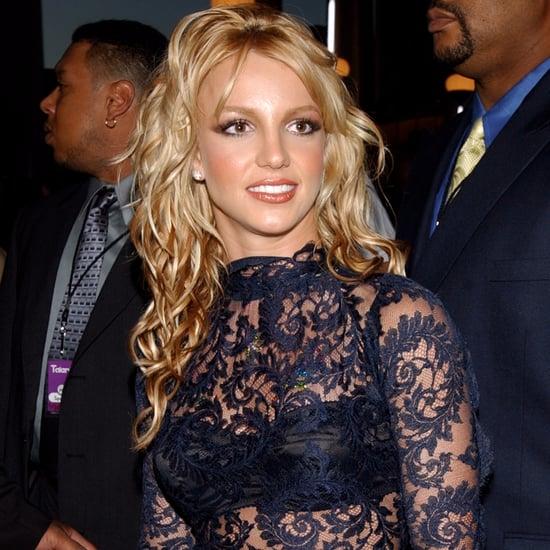 "Britney Spears ""Make Me"" Video Black Lace Dress"