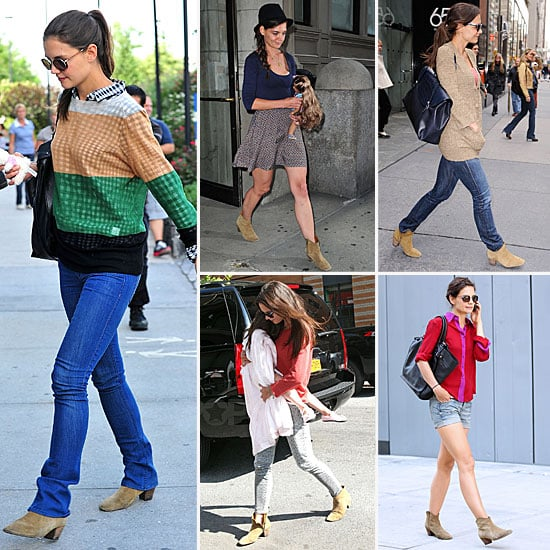 Katie Holmes Wearing Isabel Marant Boots Fall 2011