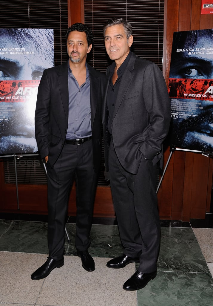 George Clooney posed for photos at the NYC screening of Argo.